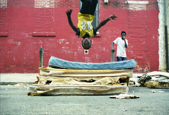 Mattress Flip Front, 2001 - Zoe Strauss @ ICP!